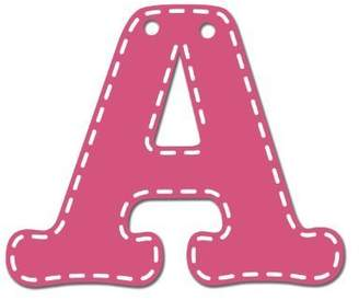 CoCalo Mix & Match Pink Hanging Letter, A by