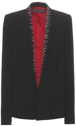 Haider Ackermann Embroidered crêpe blazer