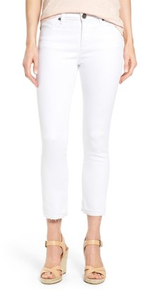 Petite Women's Kut From The Kloth Reese Release Hem Stretch Ankle Jeans $79 thestylecure.com