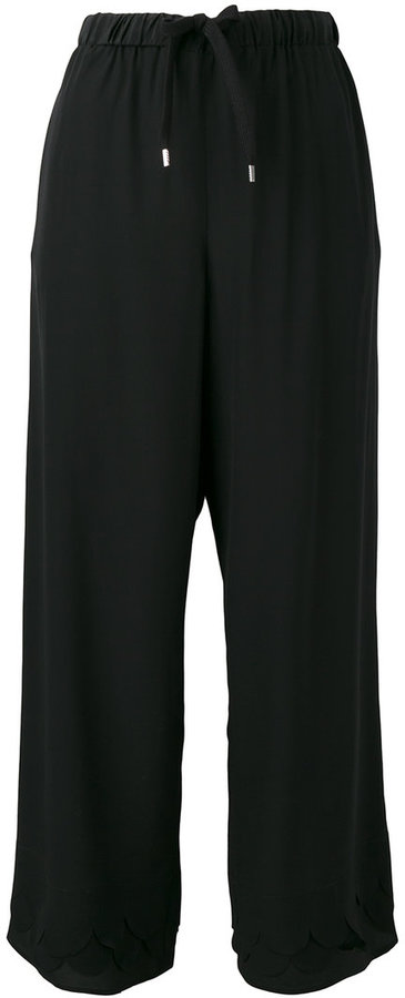 RED ValentinoRed Valentino scalloped hem cropped trousers