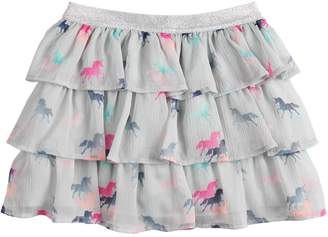 Sonoma Goods For Life Girls 4-10 SONOMA Good for Life Tiered Chiffon Skort