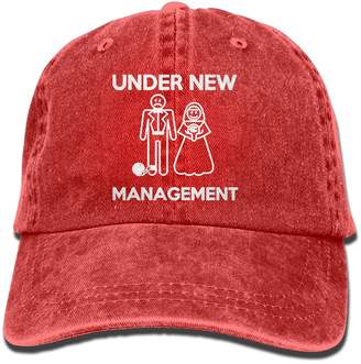 Alility Caps Funny Under New Management Washed Retro Adjustable Cowboy Hat Baseball Cap ForMan And Woman