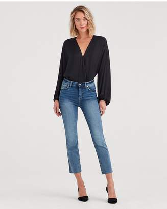 7 For All Mankind BAir Authentic Denim Edie With Cut Off Hem And Zip Fly In Fortune