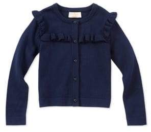 Kate Spade Baby Girl's Ruffle Yoke Cotton Cardigan
