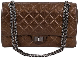 One Kings Lane Vintage Chanel Bronze Double Flap Bag - Vintage Lux