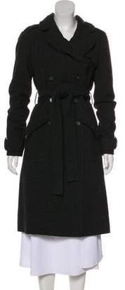 AllSaints Wool Double-Breasted Long Coat