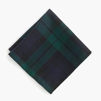 J.Crew Black Watch tartan pocket square