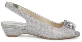 Anne Klein Helissa Embellished Slingback Sandals