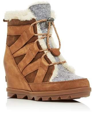 Sorel Women's Joan of Arctic Wedge II Waterproof Shearling Hidden Wedge Boots