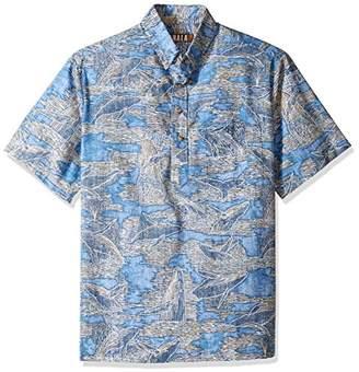 Uli Kahala Men's Kai Relaxed Fit Hawaiian Shirt