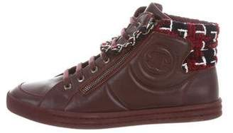 Chanel Chain-Link High-Top Sneakers