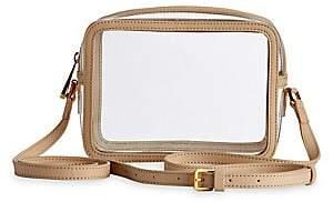 GiGi New York Women's Game Day Gigi x Collins Tuohy Smith Leather-Trim Translucent Crossbody Bag