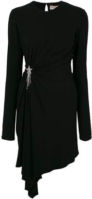 Saint Laurent gathered dress with shooting star embellishment