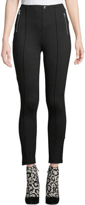 Romeo & Juliet Couture Zip-Pocket High-Waist Ponte Leggings
