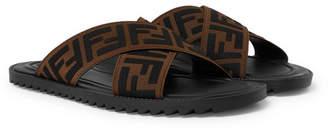 Fendi Logo-Appliqued Webbing Sandals