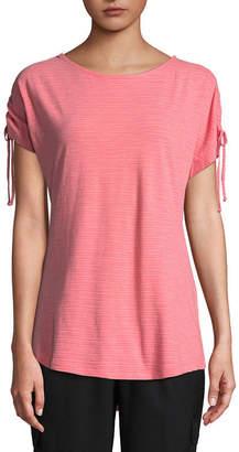 ST. JOHN'S BAY SJB ACTIVE Active Short Sleeve Crew Neck T-Shirt-Womens