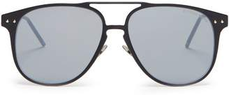 Bottega Veneta Aviator Metal Sunglasses - Mens - Black