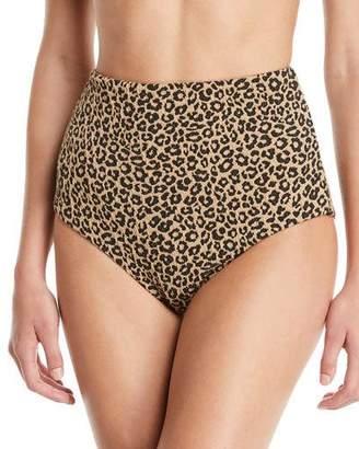 Mara Hoffman Lydia High-Waist Leopard Bikini Bottoms