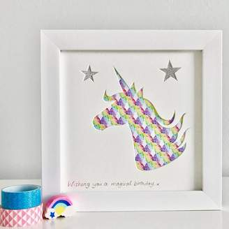 Outshine Art Personalised Framed Unicorn Picture