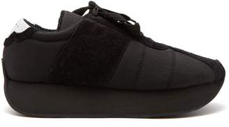 Marni Low-top suede-trimmed trainers