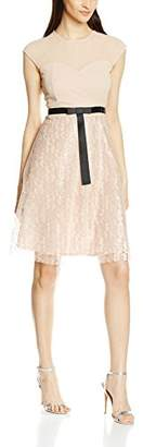 Elise Ryan Women's Lace Skater with Short Bow Dress