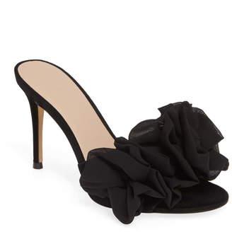 Nordstrom Something Navy Ruffle Dress Slide Sandal (Women Exclusive)