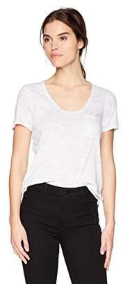 Three Dots Women's nepps Jersey s/s Short Loose Shirt