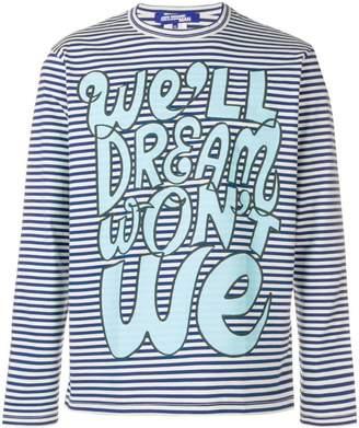 Junya Watanabe striped graphic print sweatshirt