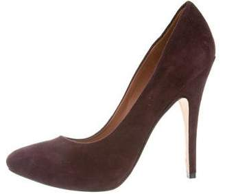Sigerson Morrison Pointed-Toe Suede Pumps