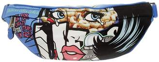 Moschino COUTURE Belt Bag Belt Bag Moschinoeyes Capsule Collection In Technical Fabric With Pop Art Print