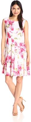 Sandra Darren Women's 1 Piece Extended Shoulder Crochet Lace Dress