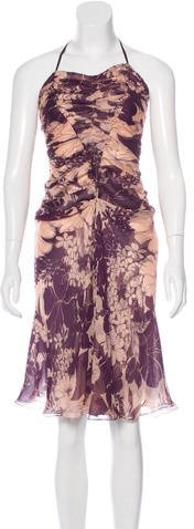 Miu Miu Miu Miu Ruched Halter Dress