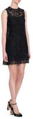 Dolce & Gabbana Floral Lace Mini Dress