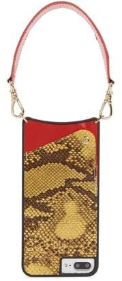 BANDOLIER Angie Snake Print Faux Leather iPhone 7/8 & 7/8 Plus Wristlet Case