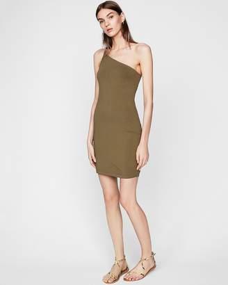 Express Asymmetrical One Shoulder Sheath Dress