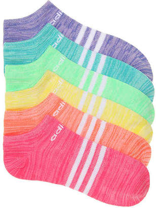 adidas Superlite Climalite Youth No Show Socks - 6 Pack - Girl's