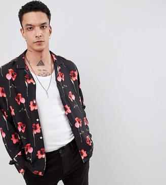 Heart & Dagger Revere Shirt In Long Sleeve With Poppy Print