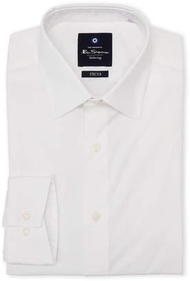 Ben Sherman White Tailoring Stretch Dress Shirt