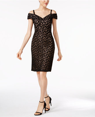 R & M Richards Glitter Cold-Shoulder Sheath Dress $89 thestylecure.com