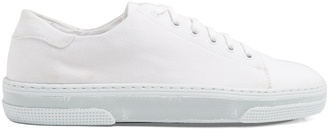 A.P.C. Steffi low-top canvas trainers $223 thestylecure.com