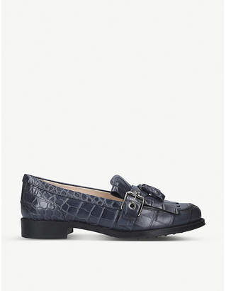 Tod's Tods Crocodile-embossed leather tassel loafers
