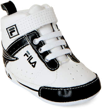 Fila Infant Boys) White & Black High-Top Sneakers
