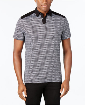 Alfani Men's Slim-Fit Geometric Print Polo, Only at Macy's $50 thestylecure.com