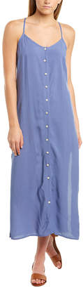 Fore Button Front Maxi Dress