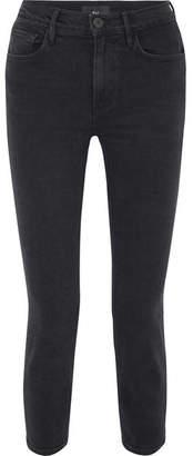 3x1 W4 Colette Cropped High-rise Slim-leg Jeans - Black