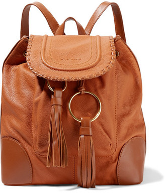 See by Chloé - Polly Tasseled Textured-leather Backpack - Camel $525 thestylecure.com