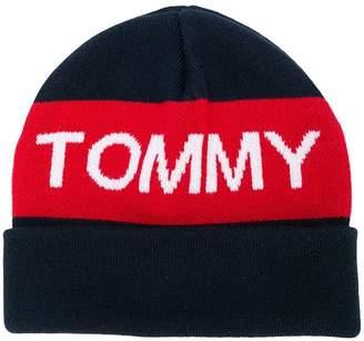 Tommy Hilfiger Junior logo knitted hat