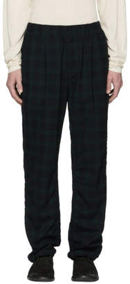 Nonnative Black and Green Check Manager Easy Trousers