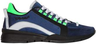 DSQUARED2 551 High Nylon & Nubuck Leather Sneakers