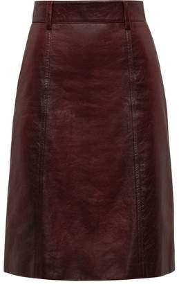 Prada matte nappa skirt